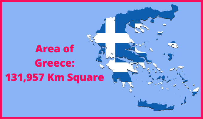 Area of Greece Compared to France