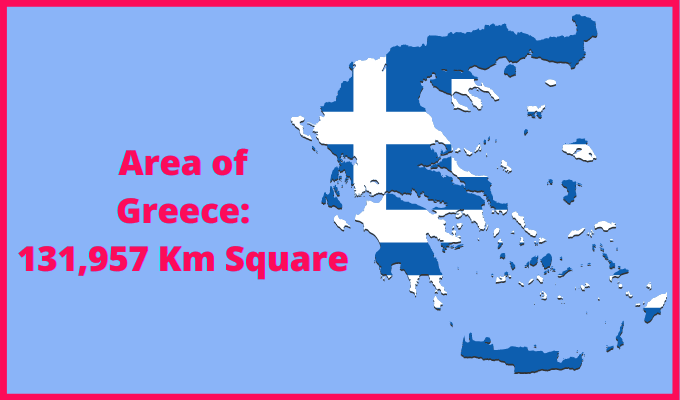 Area of Greece Compared to Japan