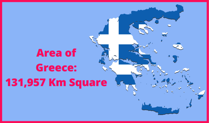 Area of Greece Compared to Qatar