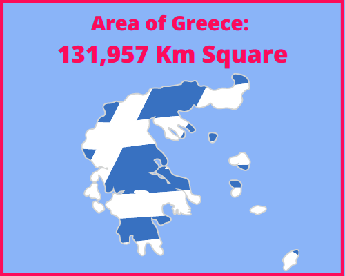 Area of Greece compared to Cyprus