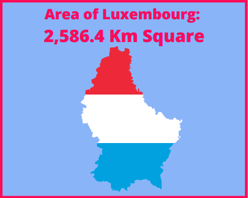 Area of Luxembourg compared to Greece