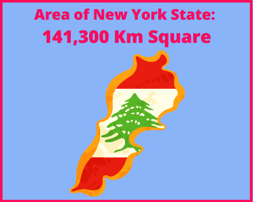 Area of New York compared to Greece