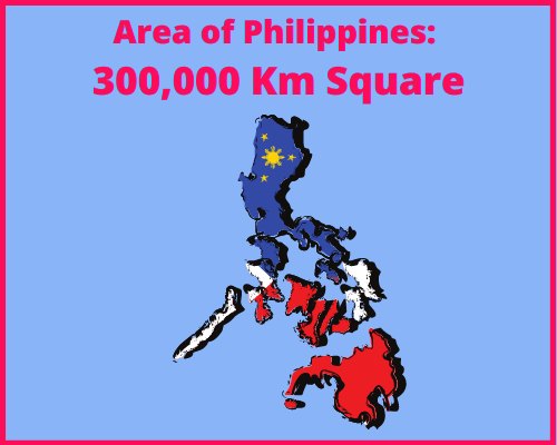 Area of Philippines compared to Greece