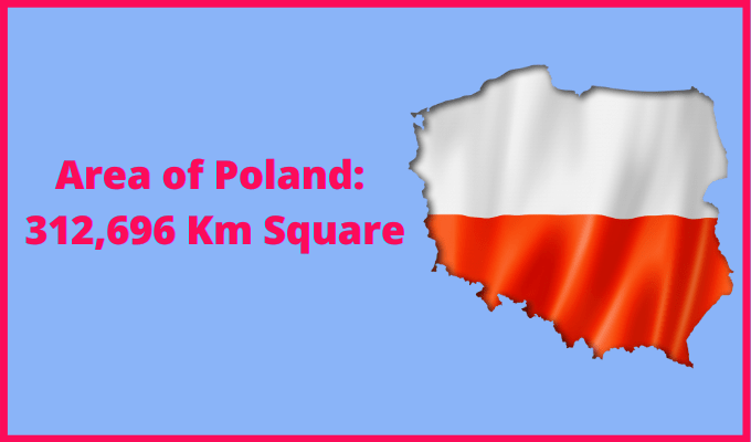 Area of Poland Compared to Rhode Island