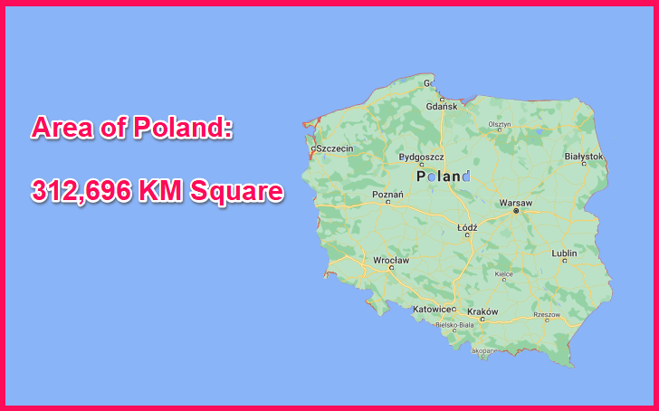 Area of Poland compared to Spain