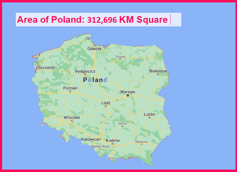 Area of Poland compared to the Netherlands