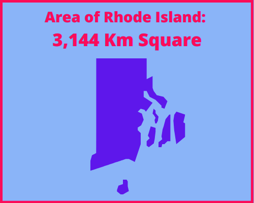 Area of Rhode Island compared to Poland