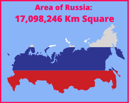 Area of Russia compared to Greece
