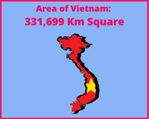Area of Vietnam compared to Cyprus