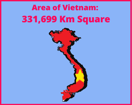 Area of Vietnam compared to Greece