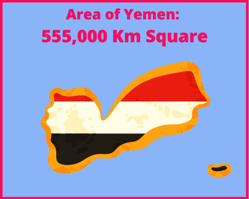 Area of Yemen compared to Cyprus