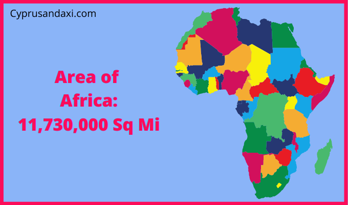 Area of Africa compared to the area of the United States of America