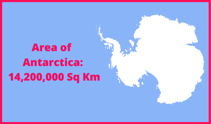 Area of Antarctica compared to the area of the United States of America