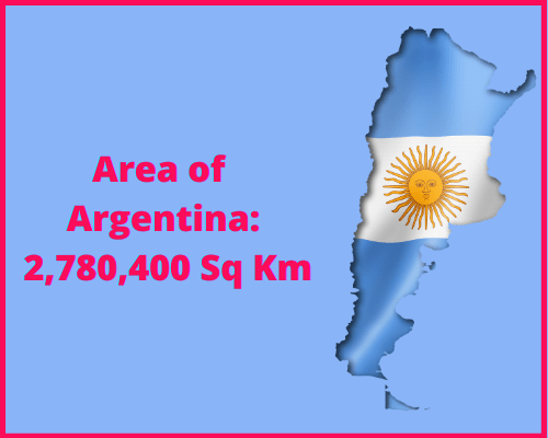 Area of Argentina compared to the area of the United States of America