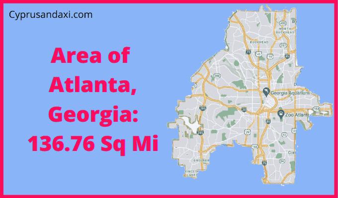 Area of Atlanta Georgia compared to Dallas Texas
