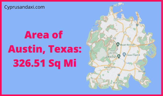Area of Austin Texas compared to Los Angeles