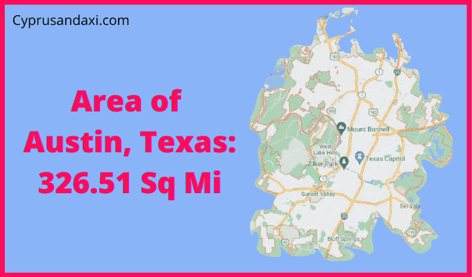 Area of Austin Texas compared to Rhode Island