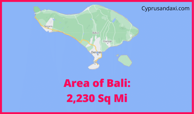 Area of Bali compared to Texas