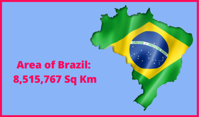 Area of Brazil compared to the area of the United States of America