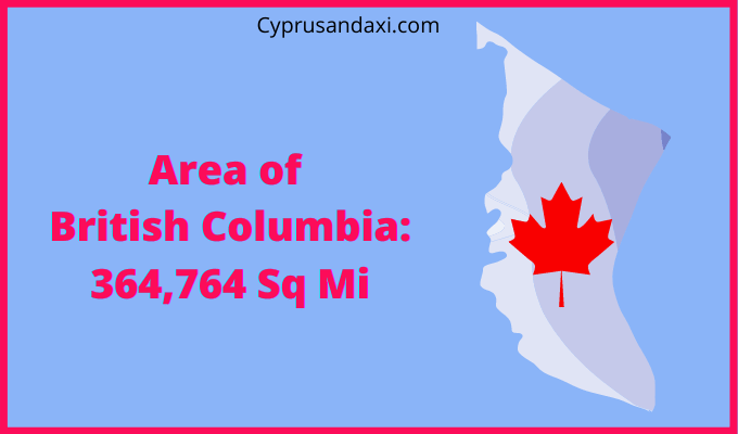 Area of British Columbia compared to Texas
