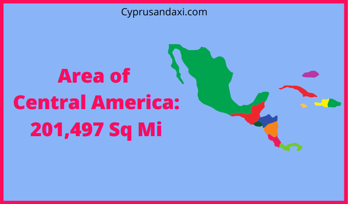 Area of Central America compared to Texas