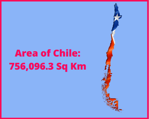 Area of Chile compared to the area of the United States of America