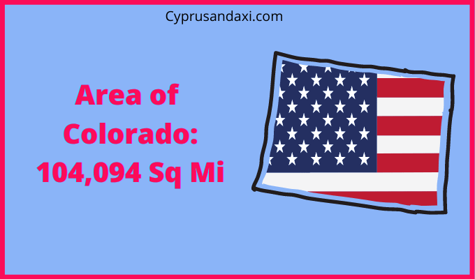 Area of Colorado compared to Texas