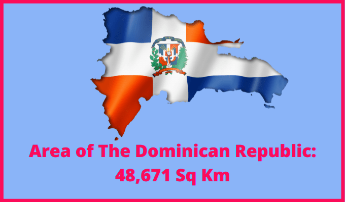 Area of Dominican Republic compared to the area of the United States of America