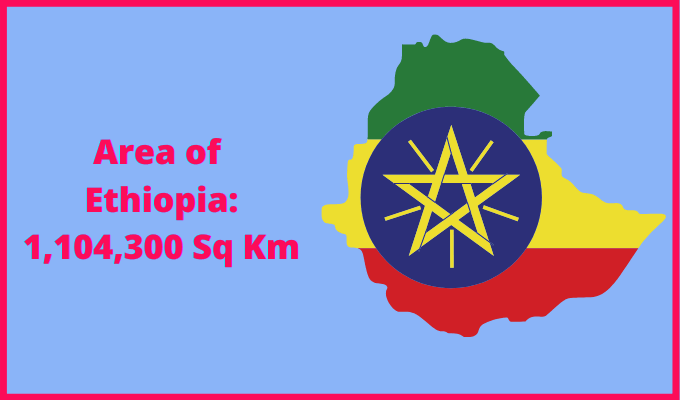 Area of Ethiopia compared to the area of the United States of America