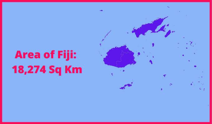 Area of Fiji compared to the area of the United States of America