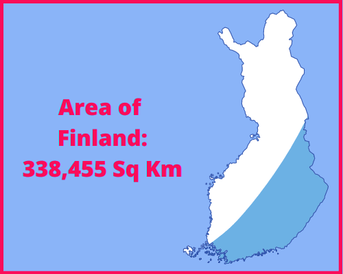 Area of Finland compared to the area of the United States of America