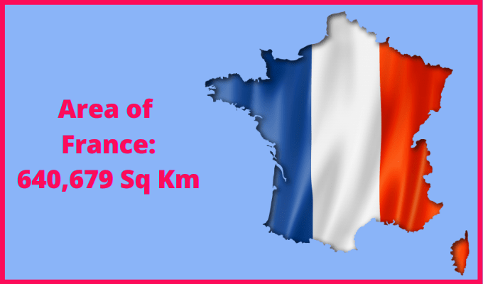 Area of France compared to the area of the United States of America