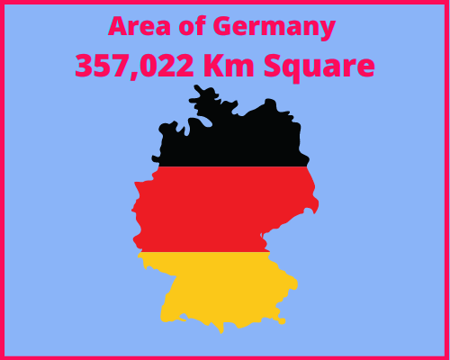 Area of Germany compared to Portugal