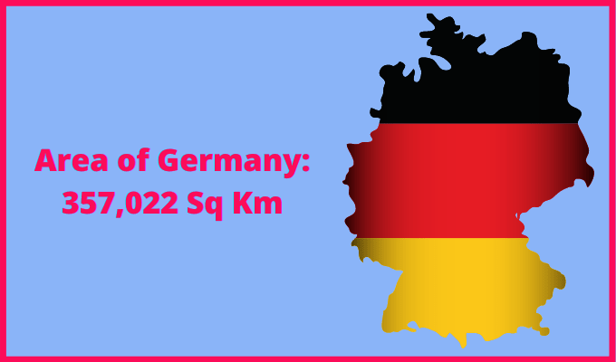 Area of Germany compared to the area of the United States of America