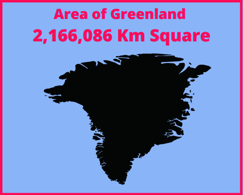 Area of Greenland compared to Portugal