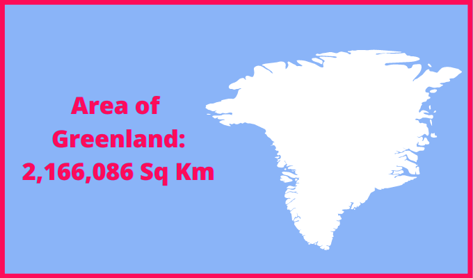 Area of Greenland compared to the area of the United States of America