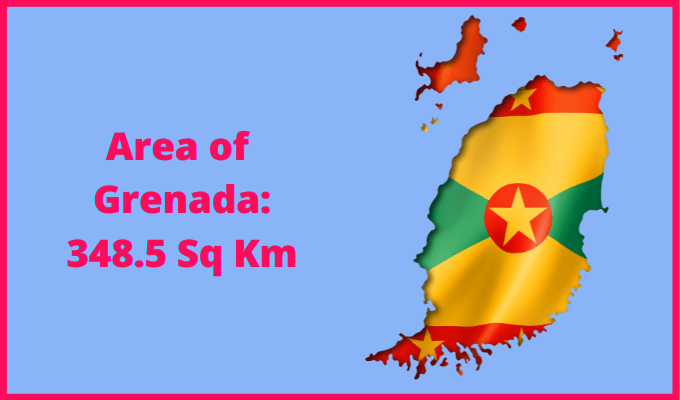 Area of Grenada compared to the area of the United States of America