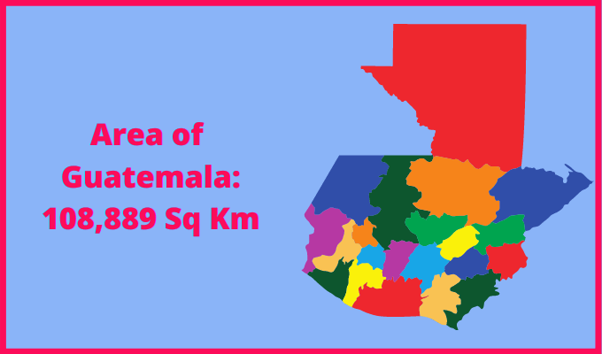 Area of Guatemala compared to the area of the United States of America