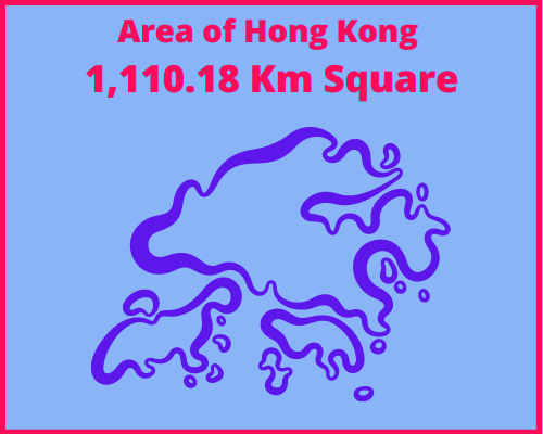 Area of Hong Kong compared to Portugal
