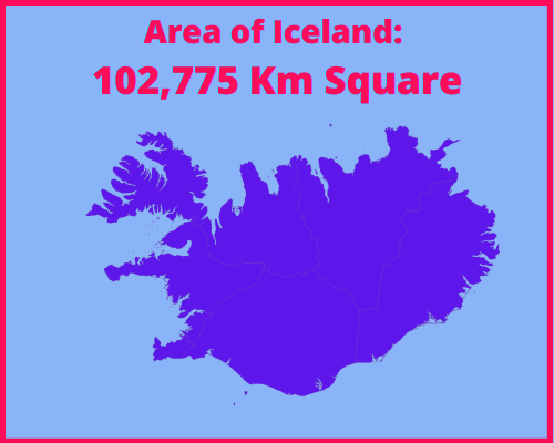 Area of Iceland compared to Portugal