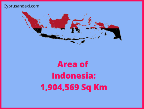 Area of Indonesia compared to the area of the United States of America