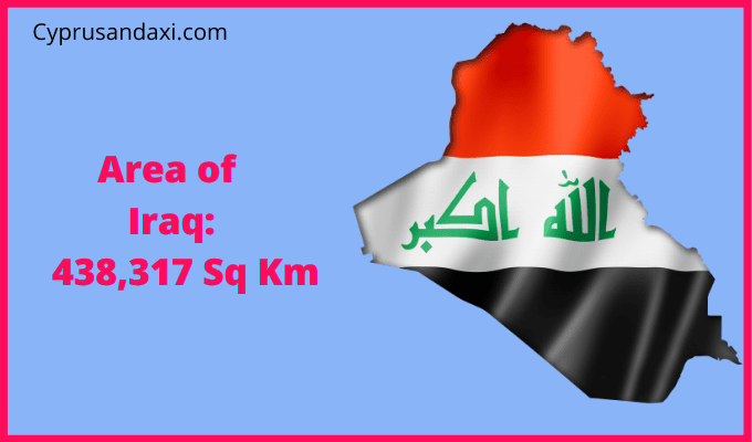 Area of Iraq compared to Texas