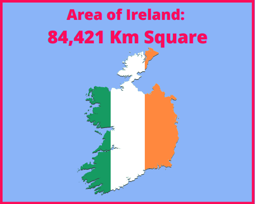 Area of Ireland compared to Portugal