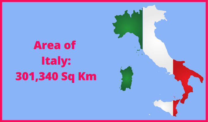 Area of Italy compared to the area of the United States of America