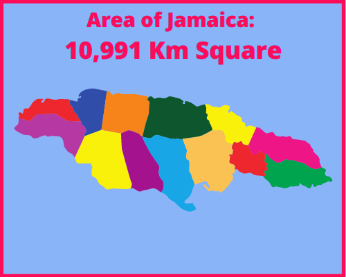 Area of Jamaica compared to Portugal