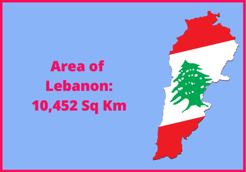 Area of Lebanon compared to the area of the United States of America