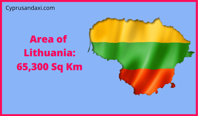 Area of Lithuania compared to the area of the United States of America