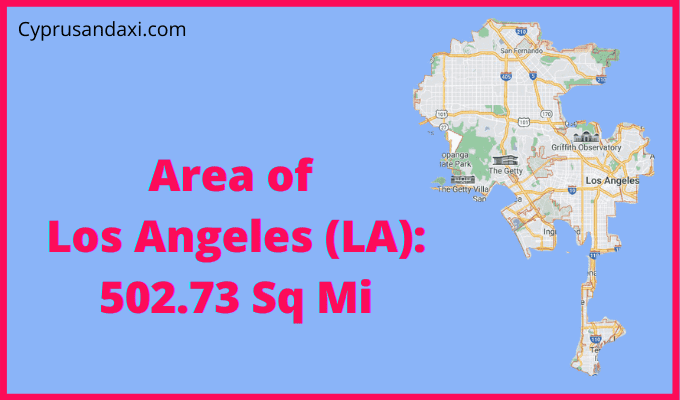Area of Los Angeles compared to Austin Texas
