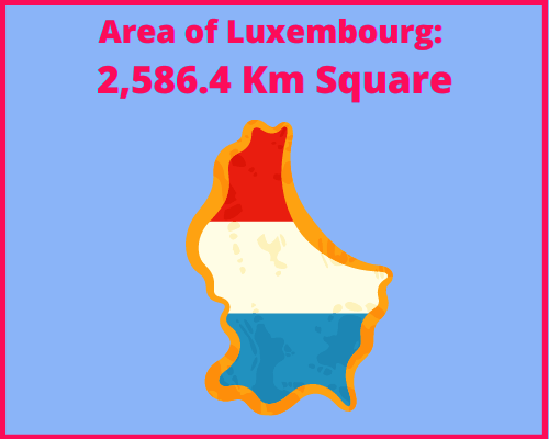 Area of Luxembourg compared to Portugal