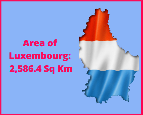 Area of Luxembourg compared to the area of the United States of America